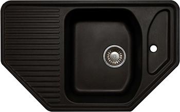 Кухонная мойка LAVA A.1 (BASALT чёрный) цена