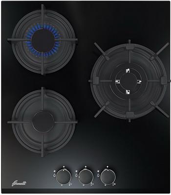 Встраиваемая газовая варочная панель FORNELLI PGA 45 FIERO BL варочная панель газовая fornelli pga 45 fiero wh белый
