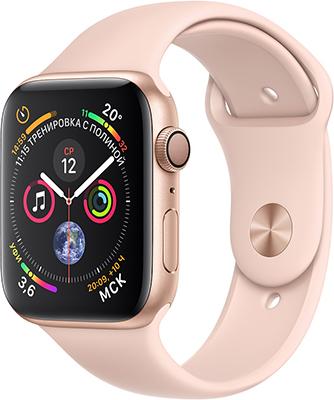 Часы Apple Watch Series 4 GPS 40 mm Gold Aluminium Case with Pink Sand Sport Band (MU 682 RU/A) часы apple watch series 4 gps 44 mm gold aluminium case with pink sand sport band mu6f2ru a