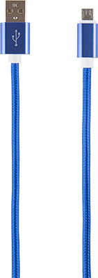Кабель Red Line USB-micro USB (2 метра) нейлоновая оплетка синий red line дата кабель usb type c 2 0 black нейлоновая оплетка