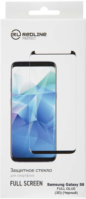 Защитное стекло Red Line Samsung Galaxy S8 Full screen (3D) tempered glass FULL GLUE черный аксессуар защитное стекло для samsung galaxy s8 plus red line full screen 3d tempered glass black ут000010821