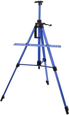 Мольберт телескопический Белоснежка 77-BS тренога алюм. синий