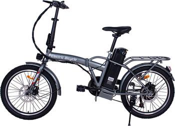 Электровелосипед Hiper Engine BF200 серый металлик
