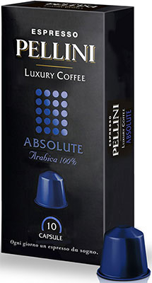 Кофе капсульный Pellini Absolute 10 капсул по 5g Nespresso (329890162) кофе в капсулах pellini arabica для кофемашины nespresso 10 капсул