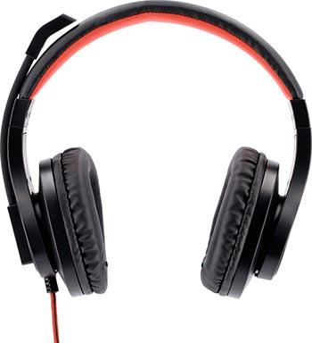 Фото - Гарнитура для ПК Hama HS-USB400 черный/красный 2м накладные оголовье (00139927) микрофон проводной hama allround 00139906 2м black