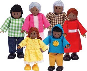 Набор мини-кукол Hape E3501_HP Счастливая афроамериканская семья
