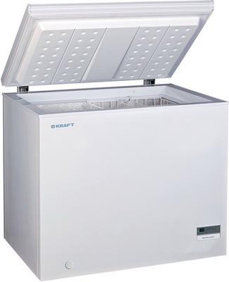 Морозильный ларь Kraft BD (W) 225 BL с дисплеем (белый) цена и фото