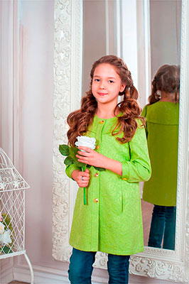 Плащ Стильные непоседы 316 (зеленый) размер 38-152 купальник слитный для девочки arina festivita цвет синий gi 011806 af размер 152 158