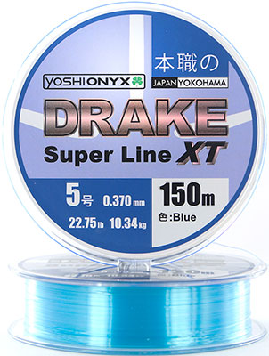Леска Yoshi Onyx DRAKE SUPERLINE XT 150 M 0.405 mm Blue 89482
