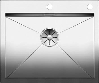 Кухонная мойка BLANCO ZEROX 550-IF/А нерж. сталь зеркальная полировка с клапаном-автоматом 521638 кухонная мойка blanco andano 700 u нерж сталь зеркальная полировка с клапаном автоматом