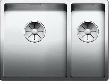 Кухонная мойка Blanco CLARON 340/180-U (чаша слева) нерж. сталь зеркальная полировка 521609