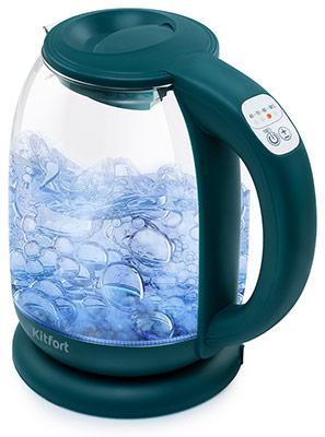 цена на Чайник электрический Kitfort 640-4 изумрудный
