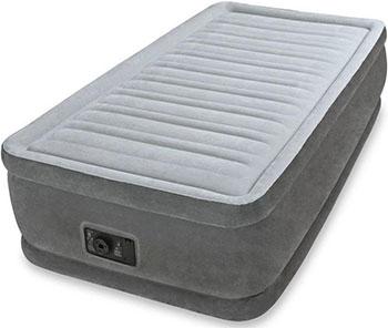 Кровать надувная Intex Comfort-Plush 99х191х46 встроенный насос 220 V 64412 цена 2017