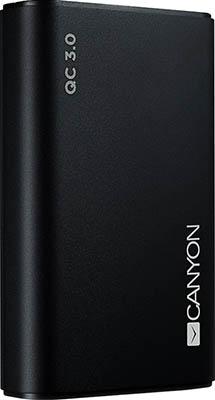 Аккумулятор портативный Canyon CND-TPBQC 10 B Черный