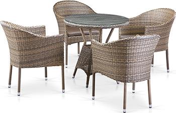 Комплект мебели Афина T 705 ANT/Y 350 G-W 1289 4Pcs Pale