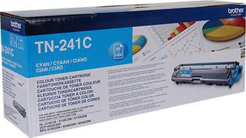 Тонер-картридж Brother TN 241 C голубой картридж mak© tk 130 черный для лазерного принтера