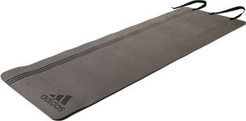 Коврик для йоги и фитнеса Adidas Elite ADMT-12236BK (черный логотип) эспандер для фитнеса easy body цвет черный синий