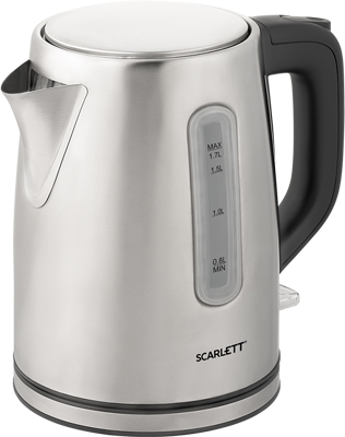 Чайник электрический Scarlett SC-EK21S91 сталь чайник электрический scarlett sc ek18p53 1л 1600вт белый серый корпус пластик