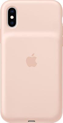 Чехол с аккумулятором Apple Smart Battery Case для iPhone XS цвет Pink Sand (розовый песок) MVQP2ZM/A цена и фото