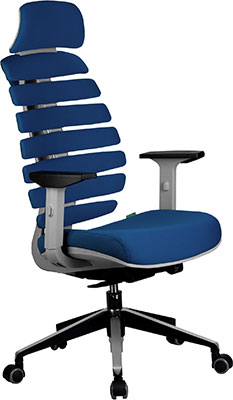 Кресло Riva Chair Shark Серый пластик/Синяя ткань (26-21) кресло складное kingcamp moon leisure chair цвет синий