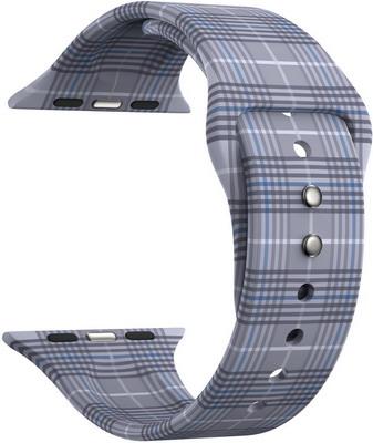 Ремешок для часов Lyambda для Apple Watch 42/44 mm URBAN DSJ-10-207A-44 gray plaid ремешок для часов apple watch 42 44 мм стальной черный his