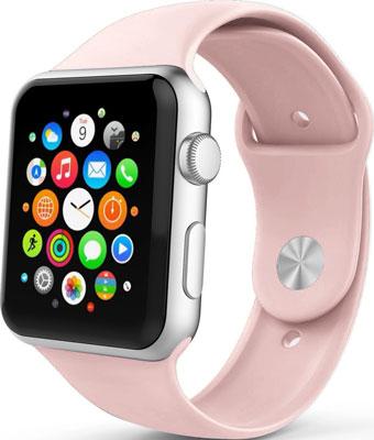 Фото - Ремешок спортивный Eva для Apple Watch 38/40 mm Розовый песок (AVA001PS) eva ремешок спортивный для apple watch 42 44mm розовый