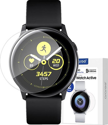 Защитная пленка Samsung araree Pure Diamond для Samsung Galaxy Watch Active2 (GP-TFR830KDATR) protect защитная пленка для samsung galaxy a5 2016 матовая