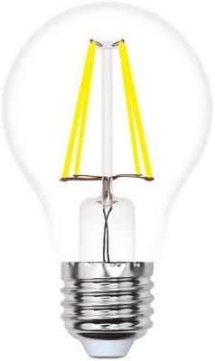 Лампа Uniel LED-A60-7W/WW/E27/CL/MB GLM10TR Форма «А» прозрачная (3000K) 002366 лампочка uniel air led a60 e27 7w 200 250v 3000k 630lm warm white led a60 7w ww e27 cl dim gla01tr