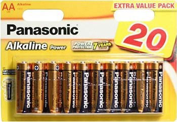Батарейки Panasonic щелочные AA Alkiline power multi pack в блистере 20 шт. (LR6REB/20BW) батарейки щелочные panasonic aa pro power в блистере 10 шт 6 и 4 lr6xeg 10b4fpr