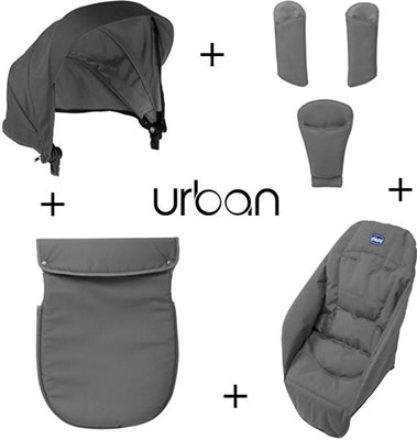 Набор аксессуаров Chicco Urban Anthracite chicco набор аксессуаров к коляске urban ibiza