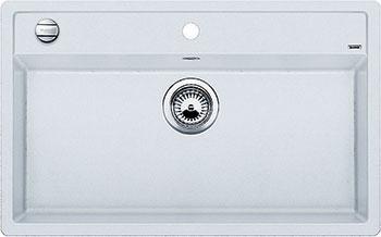 Кухонная мойка BLANCO DALAGO 8 SILGRANIT белый с клапаном-автоматом кухонная мойка blanco dalago 8 silgranit кофе с клапаном автоматом