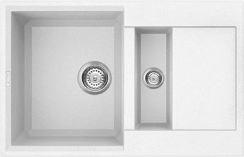 Кухонная мойка OMOIKIRI Sakaime 78-2-WH Tetogranit/белый (4993128)
