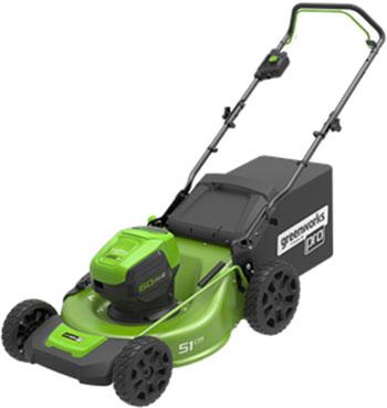 Аккумуляторная газонокосилка Greenworks 60 V GD LM 51 HP без аккумулятора и зарядного устройства 2502707