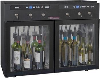 Диспенсер для вина LaSommeliere DVV6 чёрный с чёрной рамкой