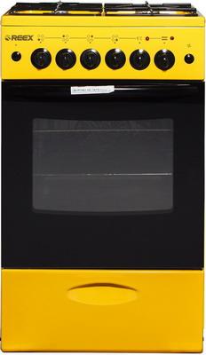 Комбинированная плита Reex CGE-540 ecYe желтый газовая плита reex cge 540 ecbk