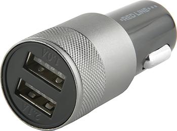 Автомобильное зарядное устройство Red Line 2 USB (модель C20) 2.1А черный автомобильное зарядное устройство red line 2usb c20 2 1а ут000010219 черный