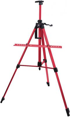 Мольберт телескопический Белоснежка 80-BS тренога алюм. красный