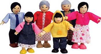 Набор мини-кукол Hape E3502_HP Счастливая азиатская семья