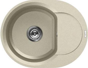Кухонная мойка Elleci EASY ROUND 600 granitek (62) Bianco Antico LGYR 6062