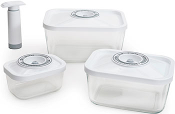 Набор контейнеров для вакуумирования Status VAC-Glass-Set White