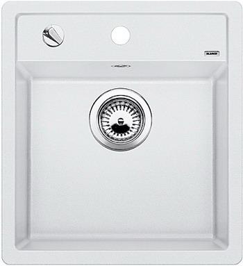 Кухонная мойка BLANCO DALAGO 45-F SILGRANIT белый с клапаном-автоматом кухонная мойка blanco dalago 6 f silgranit алюметаллик с клапаном автоматом