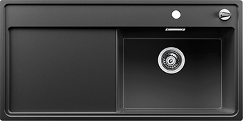 Кухонная мойка BLANCO 523884 ZENAR XL 6S-F чаша справа SILGRANIT антрацит с кл.-авт. InFino кухонная мойка blanco zenar xl 6s чаша справа silgranit шампань с кл авт infino 523950