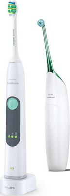 Ирригатор и электрическая зубная щетка Philips HX 8274/20 Sonicare AirFloss 2pcs philips sonicare airfloss hx8012 interdental replacement nozzles