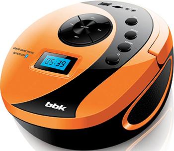 Магнитола BBK BBK BS 10 BT чёрный/оранжевый музыкальный центр bbk ams 118 bt черный