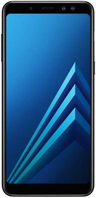Смартфон Samsung Galaxy A8 (2018) SM-A530F/DS черный смартфон samsung galaxy a8 2018 black sm a530f exynos 7885 2 2 4gb 32gb 5 6 2220x1080 16mp 16mp 8mp 4g lte 2sim android 7 1 sm a530fzkdser