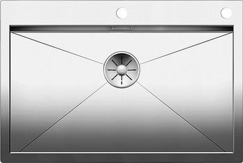 Кухонная мойка BLANCO ZEROX 700-IF/А нерж. сталь зеркальная полировка с клапаном-автоматом 521631 мойка кухонная blanco lantos 9e if полированная нерж сталь с клапаном автоматом 516277