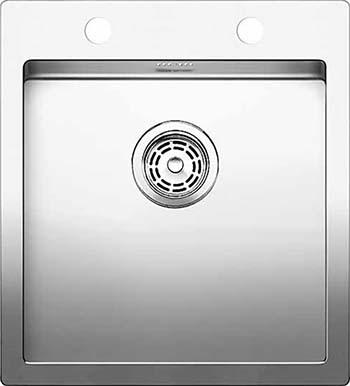 Кухонная мойка BLANCO CLARON 400-IF/А нерж. сталь зеркальная полировка 521632 тройник 90° 0 8x120 мм зеркальная нержавеющая сталь