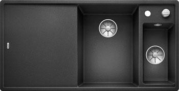 Кухонная мойка BLANCO AXIA III 6 S антрацит чаша справа доска стекло c кл.-авт. InFino 523472 цена