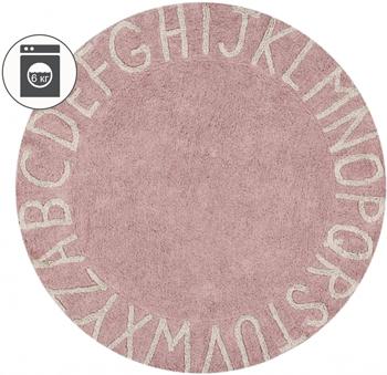 Ковер Lorena Canals круглый Алфавит Round ABC (розовый) 150 D C-ABC-VNN цена 2017