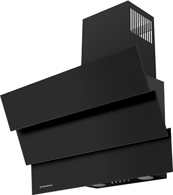 лучшая цена Вытяжка MAUNFELD CASCADA MINI 60 Черное стекло